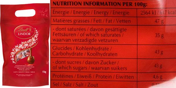 Bolsa de bombones Lindt Lindor de chocolate con leche (1.000 g) en oferta