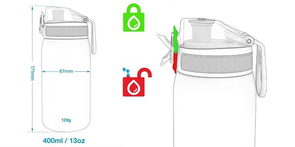 Botella agua de acero inoxidable Ion8 para niños de 400 ml chollo en Amazon