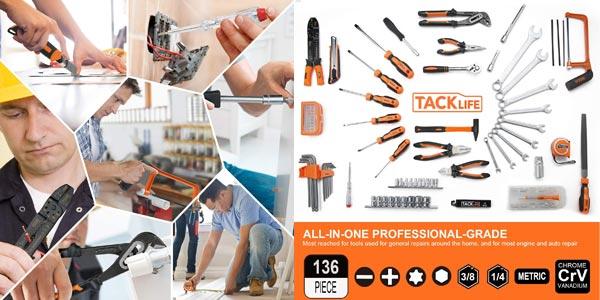 Caja de herramientas Tacklife con 136 piezas chollo en Amazon