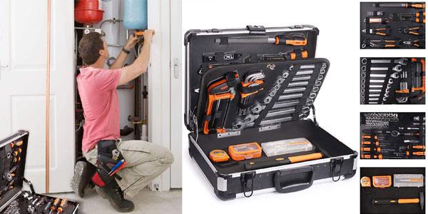 Caja de herramientas Tacklife con 136 piezas barata en Amazon
