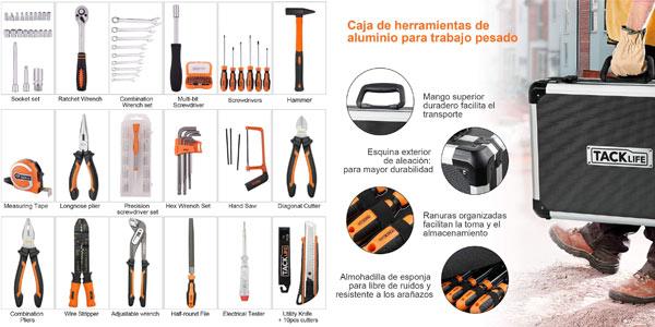 Caja de herramientas Tacklife con 136 piezas oferta en Amazon