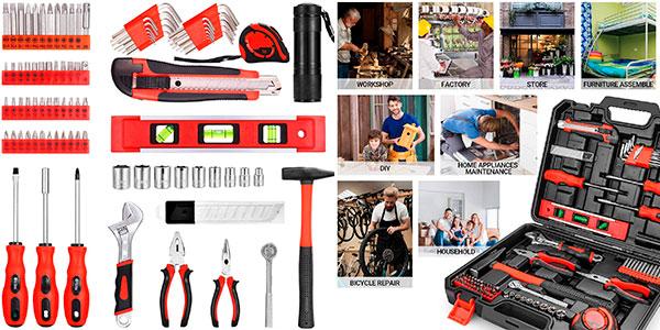 Caja de herramientas Popoman de 102 piezas barata