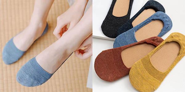 Pack de 5 pares de calcetines invisibles para mujer