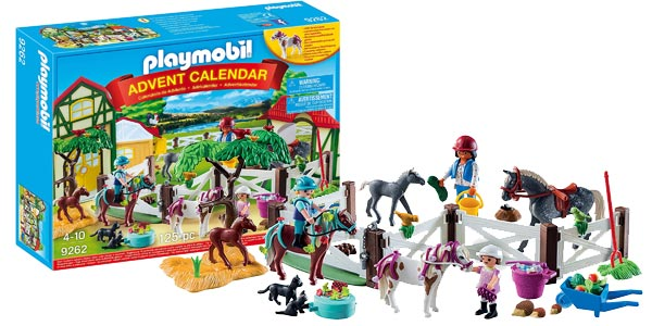 Calendario de Adviento Playmobil Granja de caballos (9262) barato en Amazon