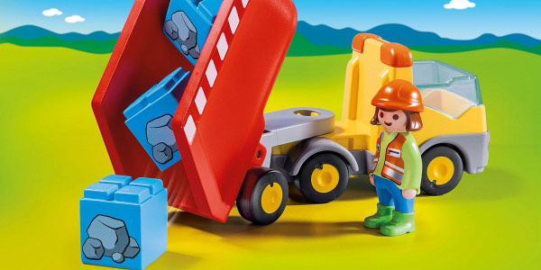 Playmobil 1.2.3 Camión de Construcción oferta en Amazon