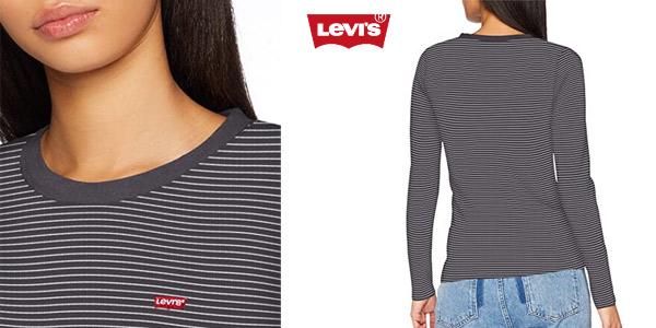 Camiseta manga larga Levi's LS Baby tee para mujer oferta en Amazon