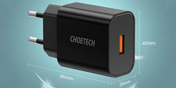 Cargador USB CHOETECH con carga rápida QC3.0 en AliExpress