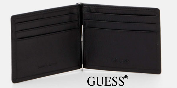 Cartera Guess Tyler Money Clip Card Case para hombre barata