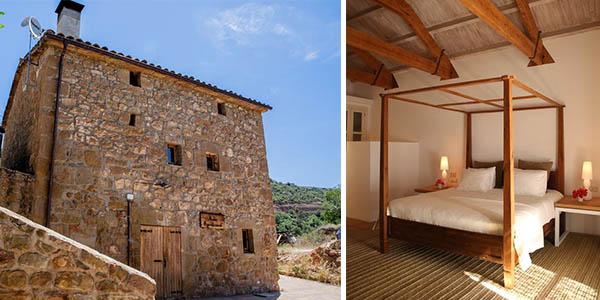 Casas de madera y piedra en plena naturaleza para desconectar baratas