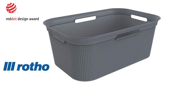 Cesta de lavandería Rotho Brisen 40 litros con 4 asas sin BPAs barata en Amazon