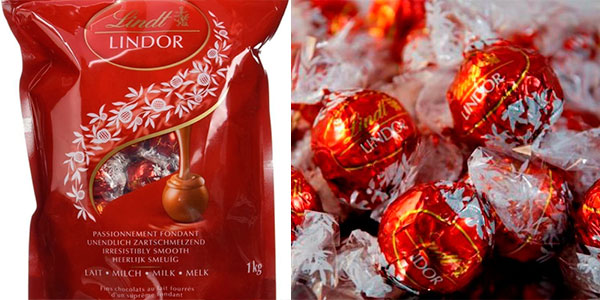 Chollo Bolsa de bombones Lindt Lindor de chocolate con leche (1.000 g)