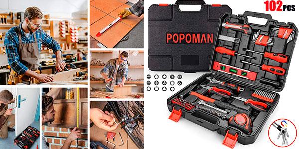 Chollo Caja de herramientas Popoman de 102 piezas