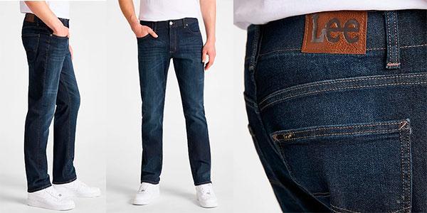 Chollo Pantalones vaqueros Lee Straight Fit XM In Trip para hombre