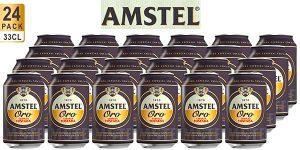 Pack x24 latas de cerveza Amstel Oro de 330 ml en oferta
