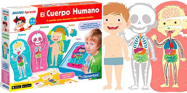 Chollo Set de 8 Puzles infantiles El cuerpo humano