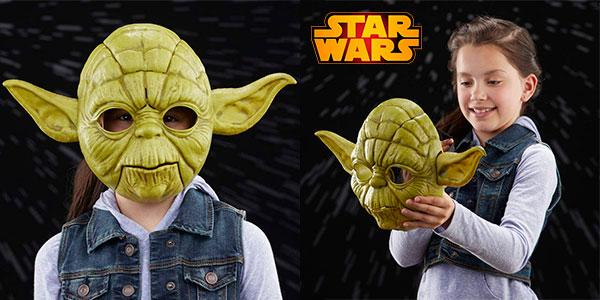 Chollo Máscara electrónica de Yoda de Star Wars con movimiento y sonido