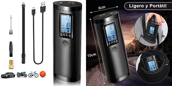 Chollo Compresor de aire Vastar de 100 PSI y 2.000 mAh