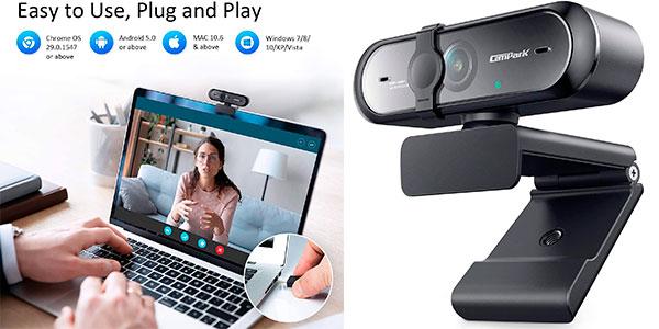Chollo Webcam Campark USB 1080P con micro