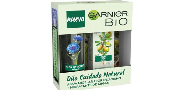Cofre Rutina Garnier Bio Agua Micelar Aciano 40 ml + Crema Nutritiva Argán 50 ml barato en Amazon