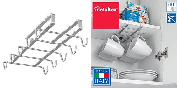 Colgador metálico para colgar tazas en un estante Metaltex My Mug oferta