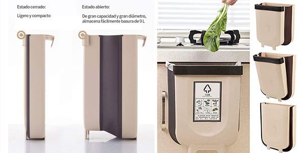 Contenedor de basura Delgeo plegable y colgante de 9L para cocina barato en Amazon