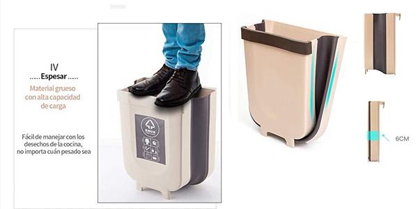 Contenedor de basura Delgeo plegable y colgante de 9L para cocina chollo en Amazon