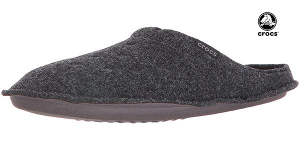 Crocs Slipper color gris oscuro