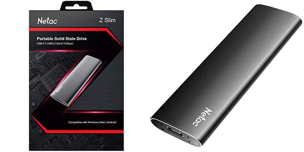 Disco SSD portátil Netac de 250 GB