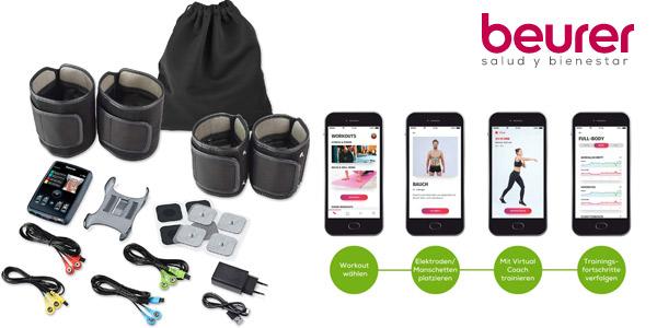 Electroestimulador Digital Cuerpo Beurer EM95 con Bluetooth chollo en Amazon