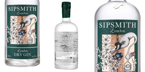 Ginebra Sipsmith London Dry Gin de 700 ml barata en Amazon