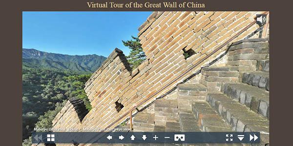 Gran Muralla China visita online gratis