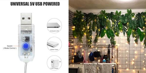 guirnalda decorativa con luces LED de colores oferta AliExpress