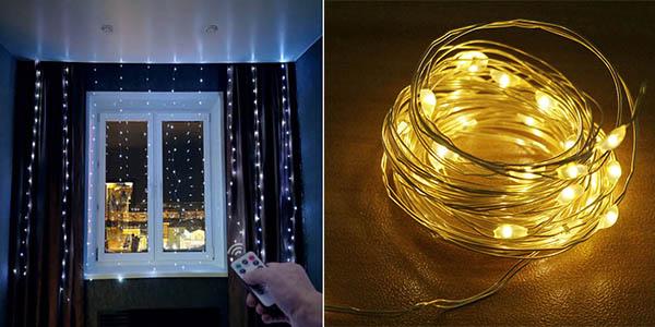 guirnalda de luces LED con USB y mando a distancia a precio de chollo