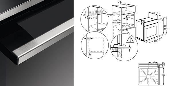 Horno Zanussi ZOB35632XU con función de limpieza automática chollo