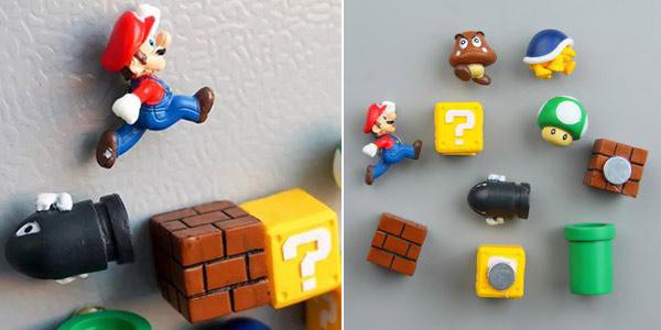 Set de 10 figuras Super Mario Bros con imán