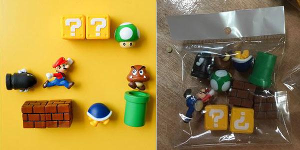 Set de 10 figuras Super Mario Bros con imán baratas