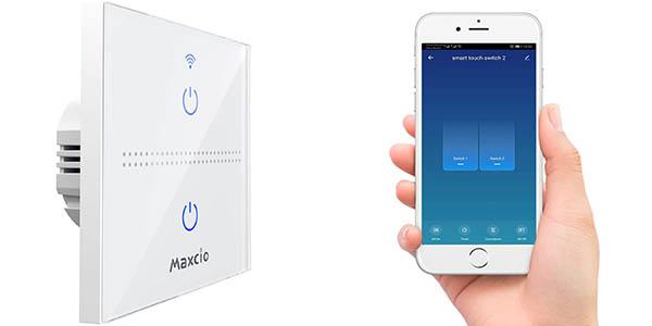 Interruptor WiFi Maxcio compatible con Alexa y Google Home
