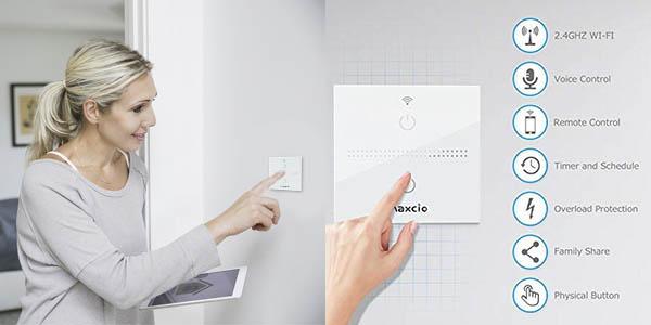 Interruptor WiFi Maxcio compatible con Alexa y Google Home en Amazon