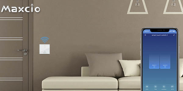 Interruptor WiFi Maxcio compatible con Alexa y Google Home barato