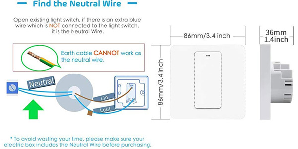 Interruptor WiFi meross MSS550X chollo en Amazon
