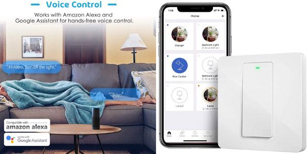 Interruptor WiFi meross MSS550X barato en Amazon