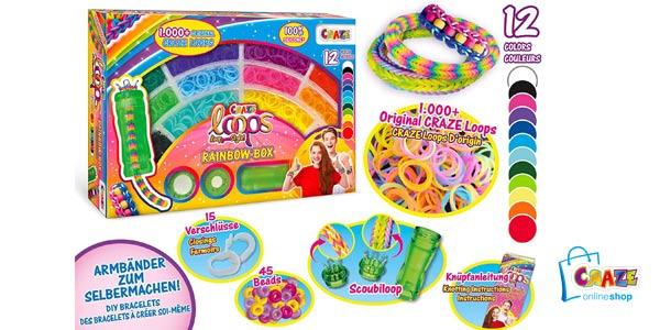 Juego x1000 Anillas de Craze Scoubiloops Rainbow Box barato en Amazon