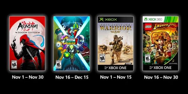 Juegos GRATIS con Gold de noviembre 2020 para Xbox