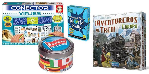 juegos de mesa baratos para aprender sobre ciudades y monumentos del mundo