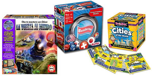 juegos de mesa para jugar en familia a precio económico y aprender sobre el mundo y geografía