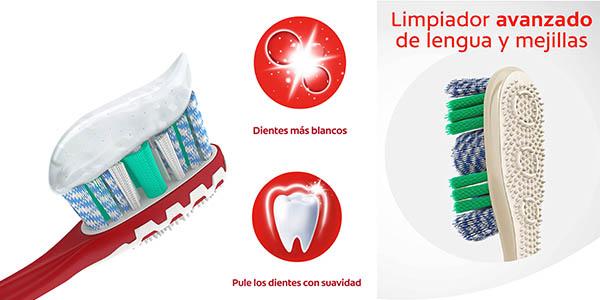 kit con cepillos y pasta de dientes Colgate Max White Luminous barato