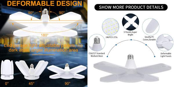 Lámpara LED de trabajo Vintoney de 60 W oferta en Amazon