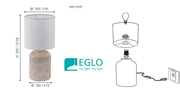 Lámpara de mesa Eglo Bellariva oferta en Amazon