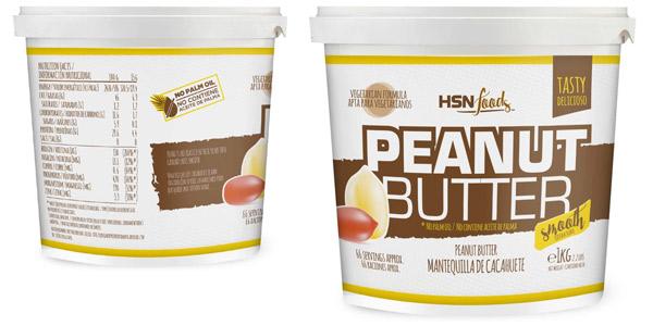 Mantequilla de cacahuete HSN Foods Peanut Butter Smooth de textura suave y cremosa 100% Natural barata en Amazon
