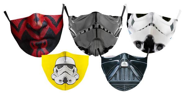 mascarillas reutilizables de Star Wars baratas